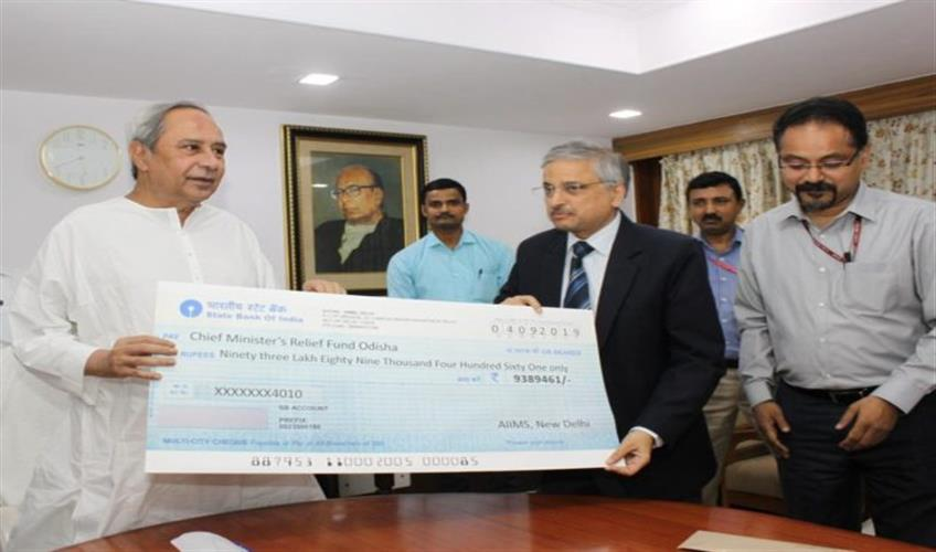 Khabar East:AIIMS-gave-Rs-9389-lakh-to-Chief-Minister-Relief-Fund-for-the-victims-of-phony-cyclone-in-Odisha