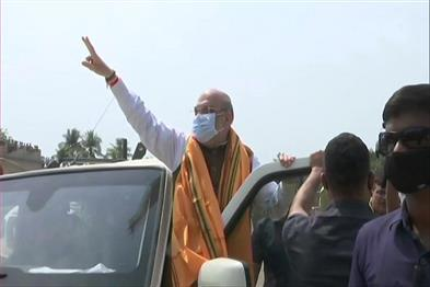 Khabar East:Amit-Shah-reached-Bengal-again-for-Bengal-Fatah-large-crowd-gathered-in-Shantipur-road-show