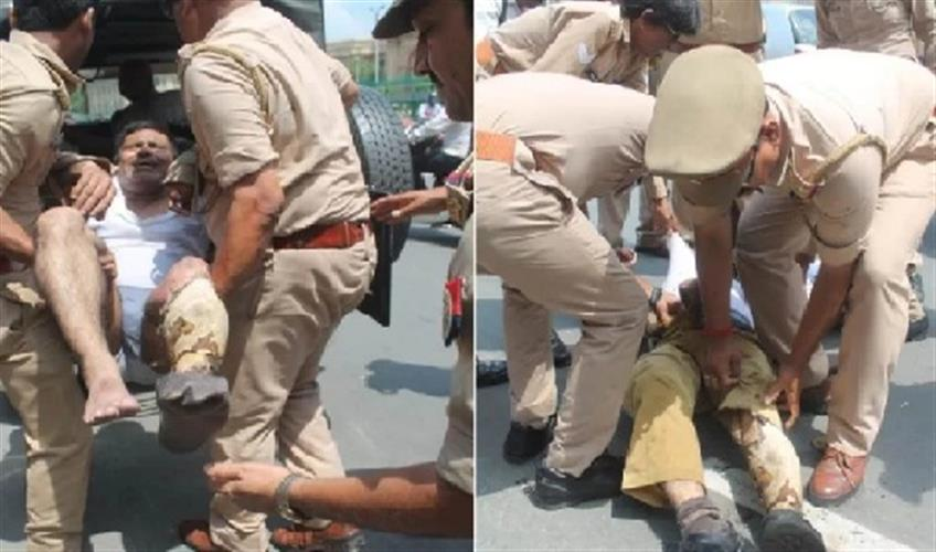 Khabar East:Attempting-self-immolation-in-front-of-Police-Headquarters-man-caught-and-sent-to-hospital