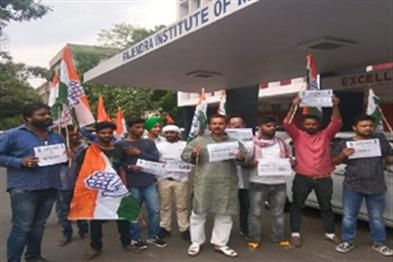 Khabar East:Congress-demonstration-on-death-of-Ayushman-India