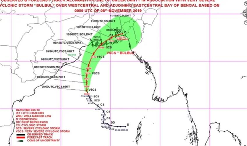 Khabar East:Cyclone-Bulbul-becomes-even-more-dangerous-warning-of-heavy-rain-in-West-Bengal
