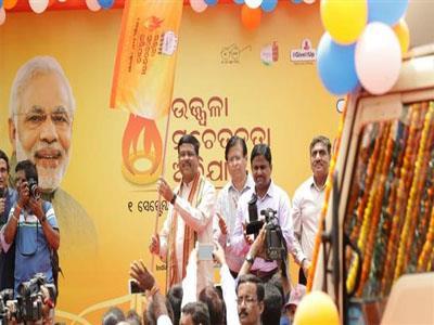 Khabar East:Dharmendra-Pradhan-launches-Ujjwala-LED-van-awareness-will-be-taken-against-Ujjwala