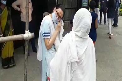 Khabar East:Earrings-opened-by-female-students-before-their-entry-into-exam-center