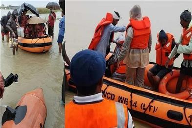 Khabar East:Earthen-dam-on-Teesta-river-broken-flood-water-entered-many-areas
