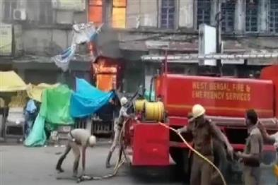 Khabar East:Fierce-fire-in-a-multi-storey-building-in-Burrabazar-area