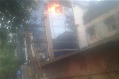 Khabar East:Fire-Breaks-Out-In-SBI-Branch-In-Bhubaneswar