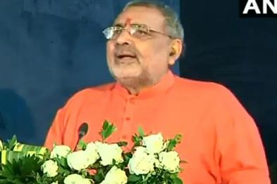 Khabar East:If-officers-do-not-listen-to-you-then-kill-them-with-cane-I-am-with-you-Giriraj-Singh