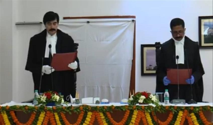 Khabar East:Justice-Sanjay-Kumar-Dwivedi-and-Justice-Deepak-Roshan-sworn-in-as-permanent-judges