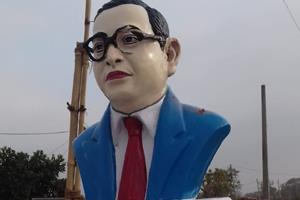 Khabar East:Naughty-elements-made-Ambedkar-statue-damaged-investigating-police