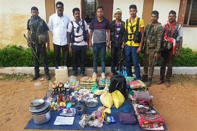 Khabar East:Naxalites-attacking-ambush-force-attacked-recovered-goods-including-tiffin-bomb