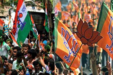 Khabar East:One-day-before-voting-electoral-violence-in-Bengal-blackjack-sticks-between-BJP-TMC-workers
