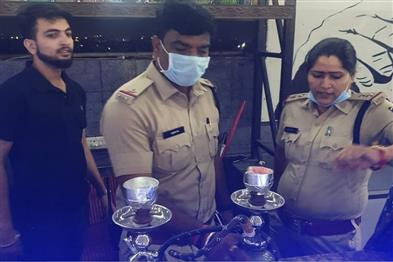 Khabar East:Police-raid-in-3-hookah-bars-of-the-capital-confiscated-intoxicants