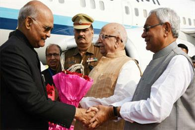 Khabar East:President-Ramnath-Kovind-reached-Bihar-on-a-one-day-tour