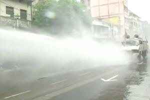Khabar East:The-tear-gas-shells-left-on-the-streets-of-Kolkata-the-BJP-workers