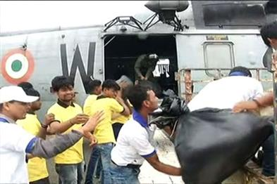Khabar East:Three-helicopters-depart-for-relief-distribution-in-flood-affected-areas-review-of-situation-of-Chief-Minister-from-Akash-Marg